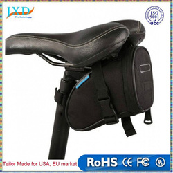 Waterproof Mountain Road Bicycle Tail Bag Saddle Bag Bike Pouch Cycling Seat Bag Black