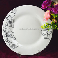 2014 Hot Sale ceramic plate with decal design/hot sale ceramic dinner plates