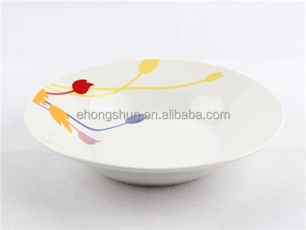 Hot sale new products wholesale ceramic dinnerware porcelain 20 cm soup plate