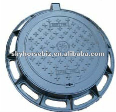 D400 Ductile iron anti theft triangle manhole cover