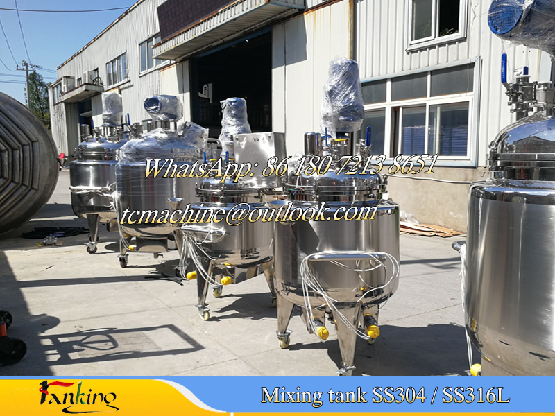 100L electric heating mixing tank with castors