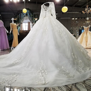 3377muslim wedding dresses pictures bodice rhinestone applique long sleeve wedding dress