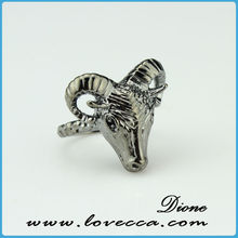 diamond animal rings simple sterling silver mens silver ring