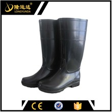 Men Clear PVC Rain Boots Chemical Resistant PVC Construction Rain Boots
