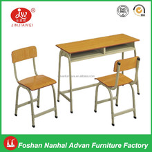 Cheap School Furniture Morden Classroom Study Table with Drawer Wooden Student Desk and Chair