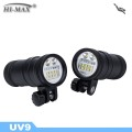 HI-MAX UV9 high class ip68 5000lm led underwater flashlight for diving