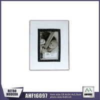 Antique White Picture Wooden Photo Frame Diamond Carved Frame Handmade Standing And Hanging Frame