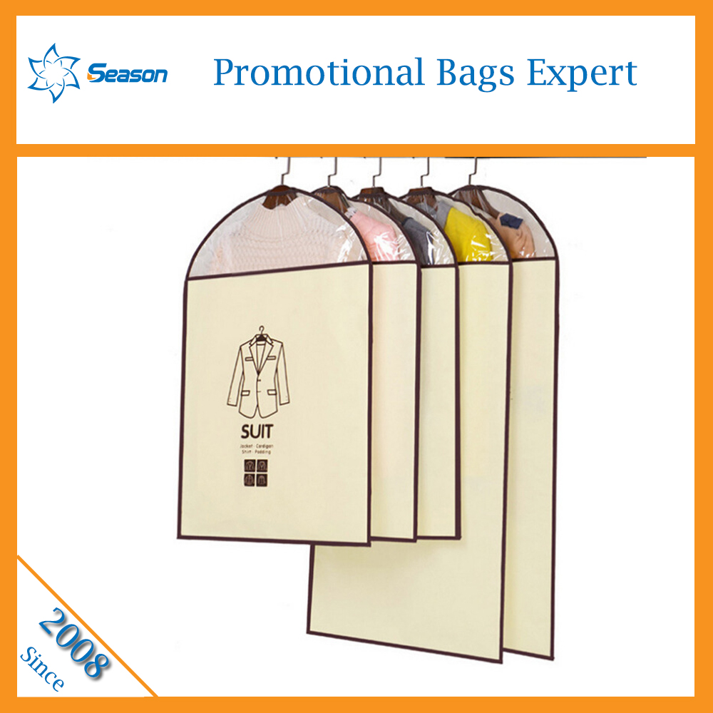 Wholesale dust proof clothes cover suit dress garment bag for shopping