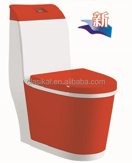 CLASIKAL Sanitary ware wholesale price red color ceramic toilet bowl