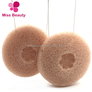 Miss Beauty Turmeric Whitening oil control Private Label Konjac Sponge with Draft box retailer package