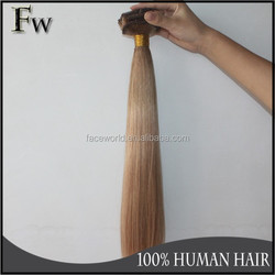 Wholesale high quality clip in double weft human braid hair extension
