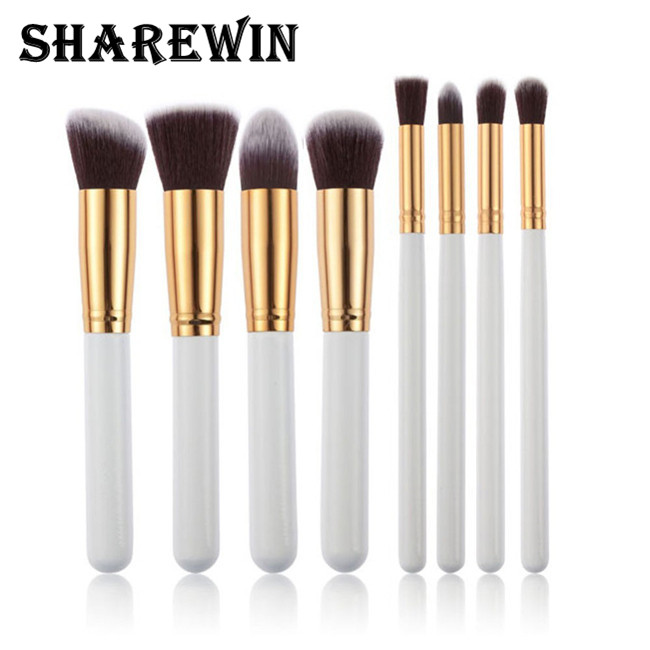 Factory direct large long-handled brushes fiber bristle make-up brush 6 colors can choose