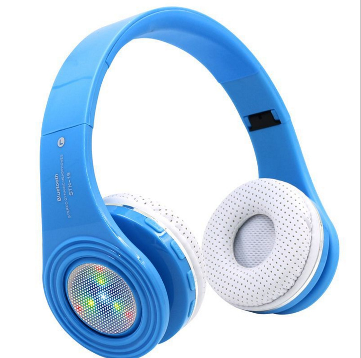 Best Gift Original Universal Handsfree LED Wireless Bluetooth Headphones with Mic,Heavy Bass Stereo FM Radio MP3 Player TF Card