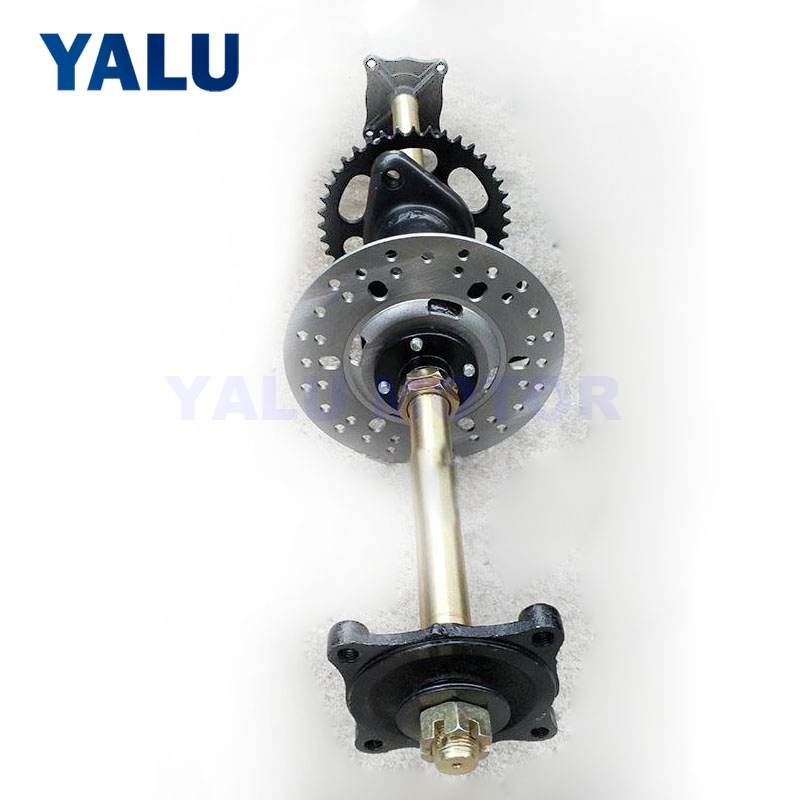 DIY four-wheeled ATV accessories modification Kart large bull chain transmission rear axle assembly rear axle flange 81CM