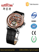316l high quality stainless steel sapphire wristwatch custom oem multifunctional dual time branded sport wristwatch