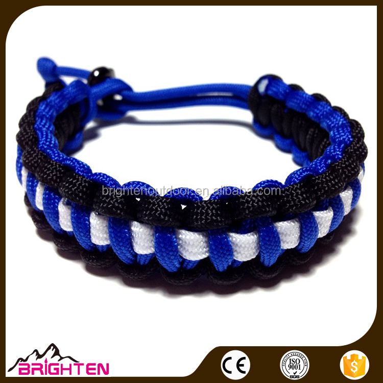adjustable braided fancy chain paracord bracelet for girls