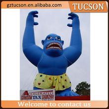 Inflatable animal mascot/ inflatable blue gorilla/ advertising gorilla