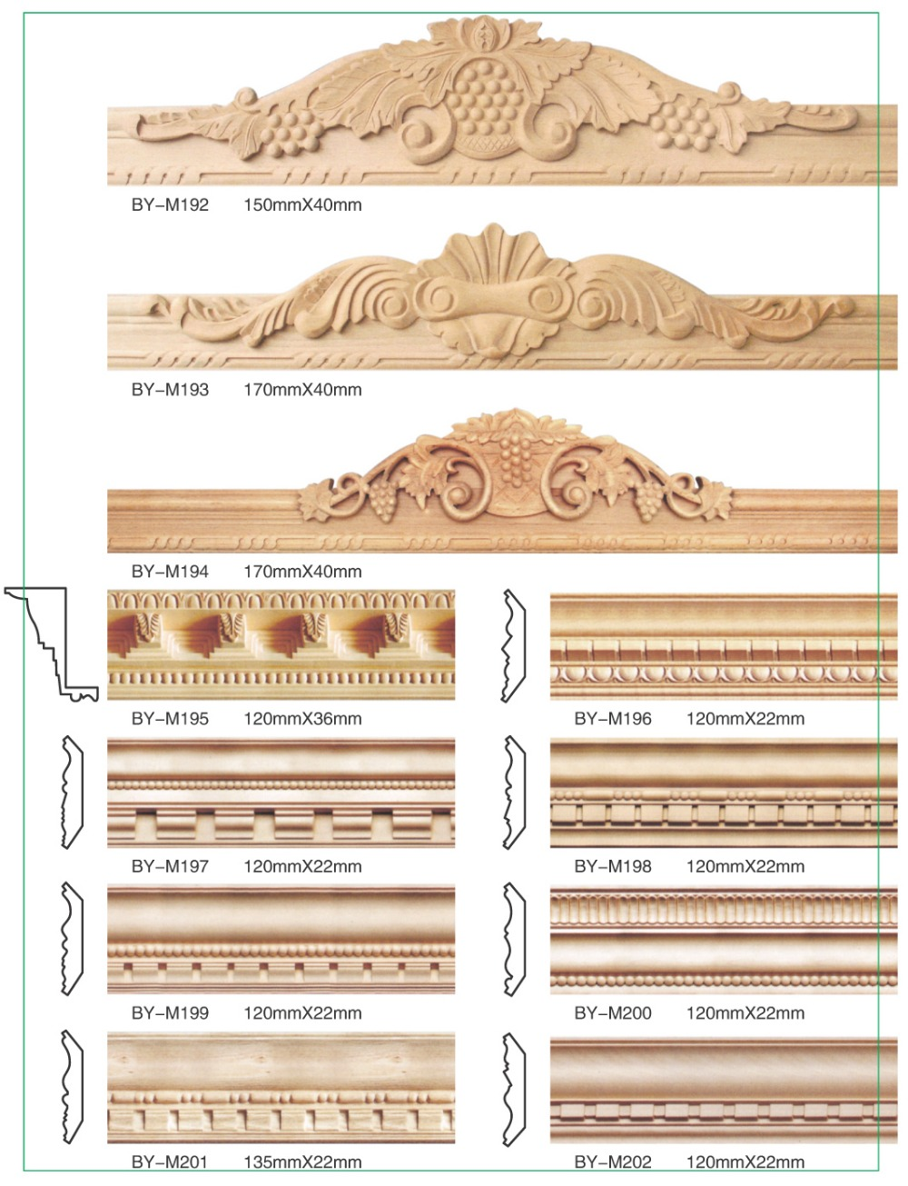 good quality and low prices embossed wood moulding Linyi factory ...