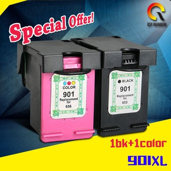 2017 Officejet J4500, J4524, J4530 with new chip 901XL printer ink cartridge for HP