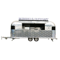 big wheels fast food kiosk /car food van /mobile towable food trailer