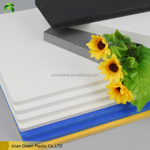 Green 2016 hot sale Rigid high density pvc foam 4x8 sheet plastic price