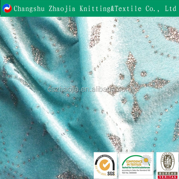 China manufacturer hot sale custom polyester bronze sequin fabric panne velvet