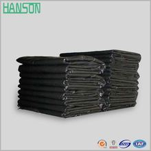 Thick black disposable bin liner big plastic trash garbage bags plastic rubbish bags flat bag on roll hdpe rubbish bin liner