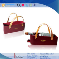 single wine bottle basket,cardboard leather wine carriers