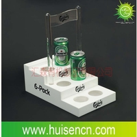 beer holder acrylic, beer bottle rack, acrylic display stand for beer