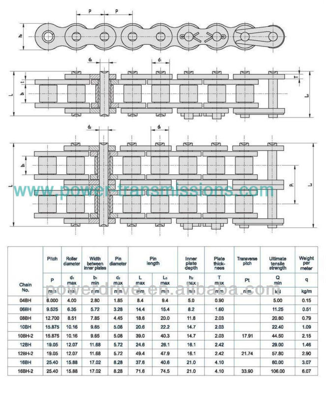 ISO/ANSI Conveyor Roller Chain