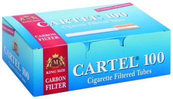Filtered Cigarette Tubes Cartel 100 Carbon