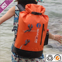 Chinese manufacturer 2016 hot selling PVC tarpaulin waterproof dry bag backpack for outdoor camping