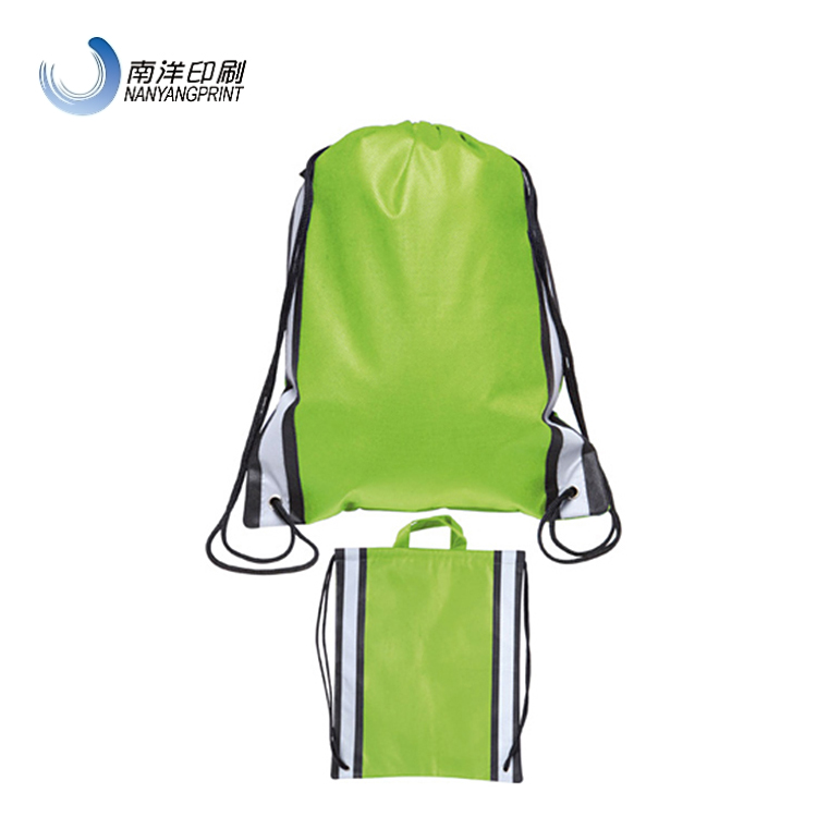 Recycled Polyester Soccer Green Sport Drawstring Shoe Bag