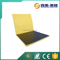 excellent glass wool with black tissue on one side/wall insulation types/fiber glass wool blanket