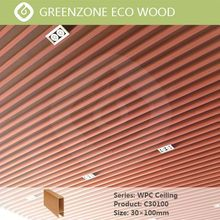 eco indoor wood plastic building materials types of false ceiling board
