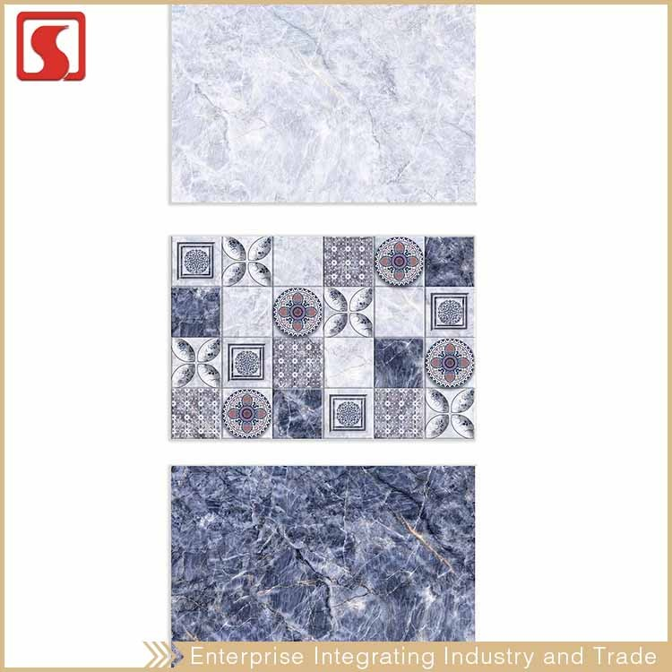 First Choice Blue Villa Glaze Porcelain Tile With Beautiful Design