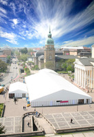 40m clear span marquee tent event tent for outdoor fair and exhibition