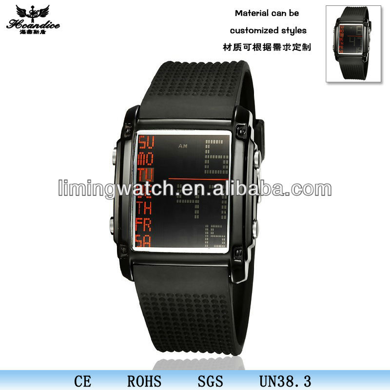 2013 sports sport square color watches silicon