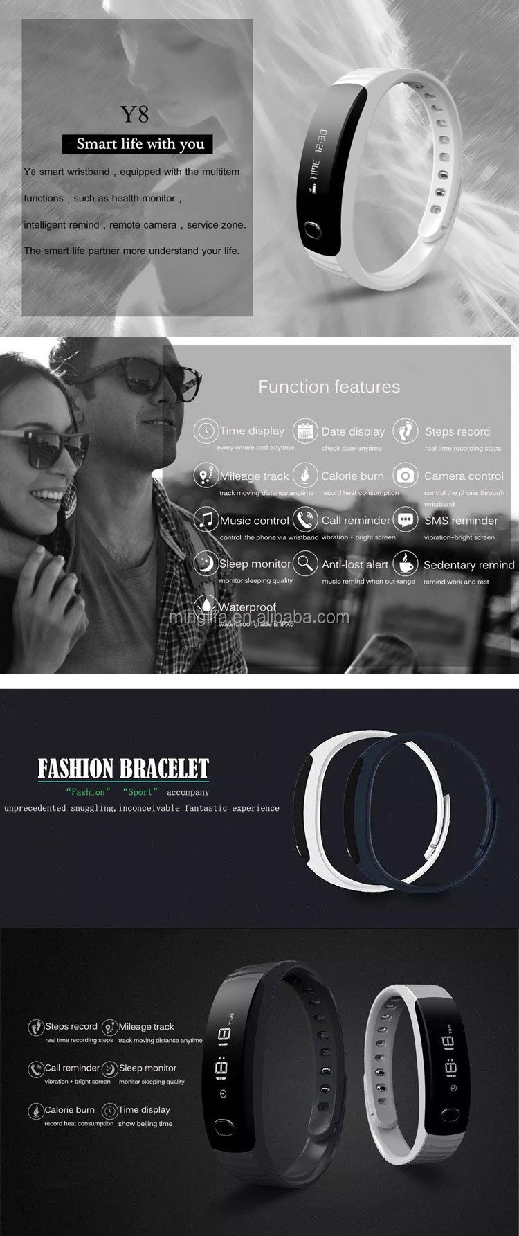 Factory Wholesale Fitness Waterproof The Cicret Smart Bracelet Price for IOS Android