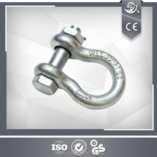 Drop Forged Steel 3/8 Inch Bow Shackle With Safety Pin
