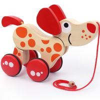 Twisting animal Handmade crafts Early development wooden pull toy