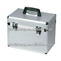 High Quality Silver Stripes Cosmetic Case for Hairdresser, w/ Aluminum Frame, RZ-AJC061