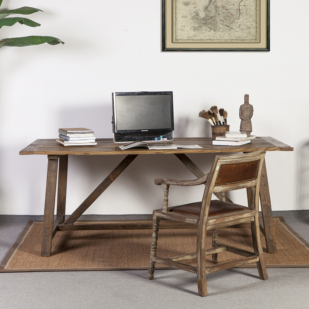 An antique rustic dining table - Antique Rustic Natural Recycled Solid Wood Dining Table