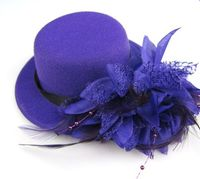 Wholesale Ladies Fascinator Hats Bases With Colorful Feather