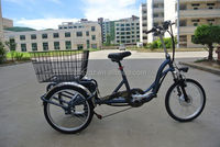 lithium battery 3 wheel electric bicycle with pedals
