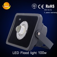 construction spotlight factory direct with high lumens outdoor ip65 cob 100watt led flood light with ce rohs