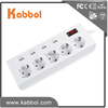 EU Power Strip with 4 Port USB Suger Protector led strip power supply Charger for iPhone/iPad