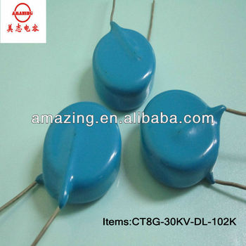 N4700 high frequency blue capacitor 30kv 102k for generator capacitor