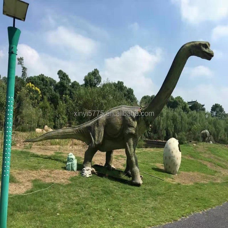 The simulation of large dinosaurs for outside