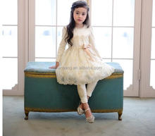 New Fashion Girls Puffy Party Dress White Feather Cocktail Dress For Children